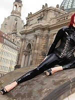 City Walk Latex Catsuit Dresden