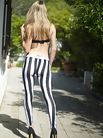 Skin Tight Glamour | Galleries | Photos | Chloe Toy Stripey Leggings